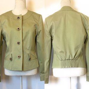 600 west jacket, Sz 8, pale celery, button up